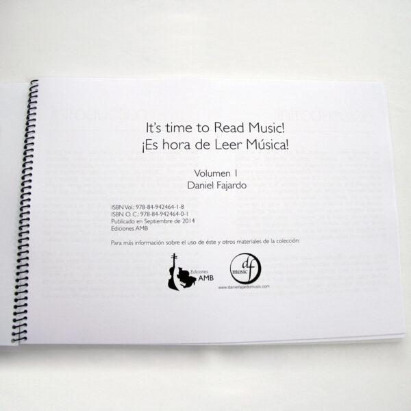 LIBRO Es hora de leer música Vol 1